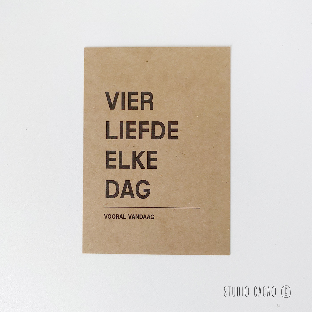 Quote Card - vier de liefde elke dag - Hechtel-Eksel Winkelt