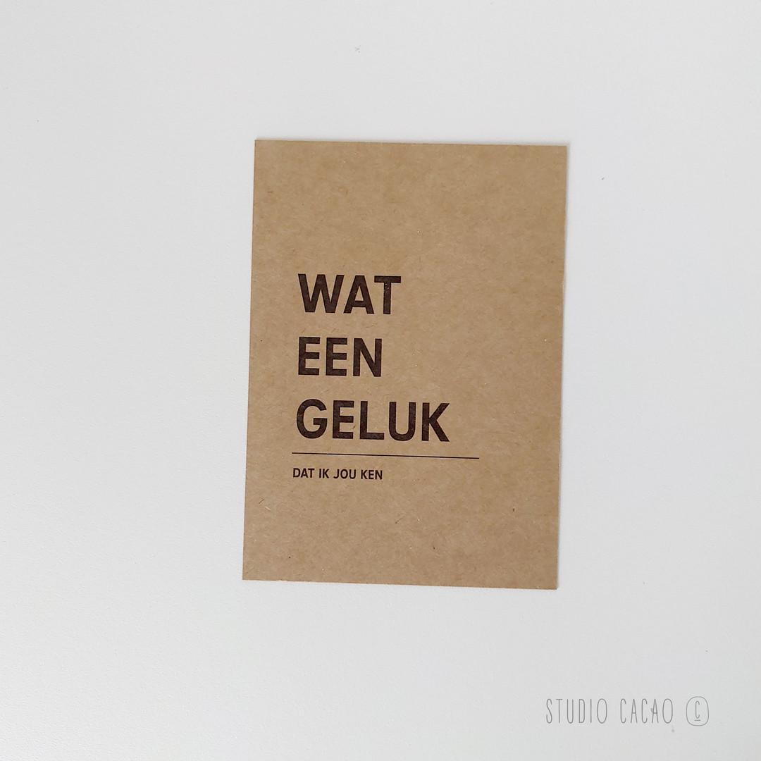 Quote Card - wat een geluk - Hechtel-Eksel Winkelt