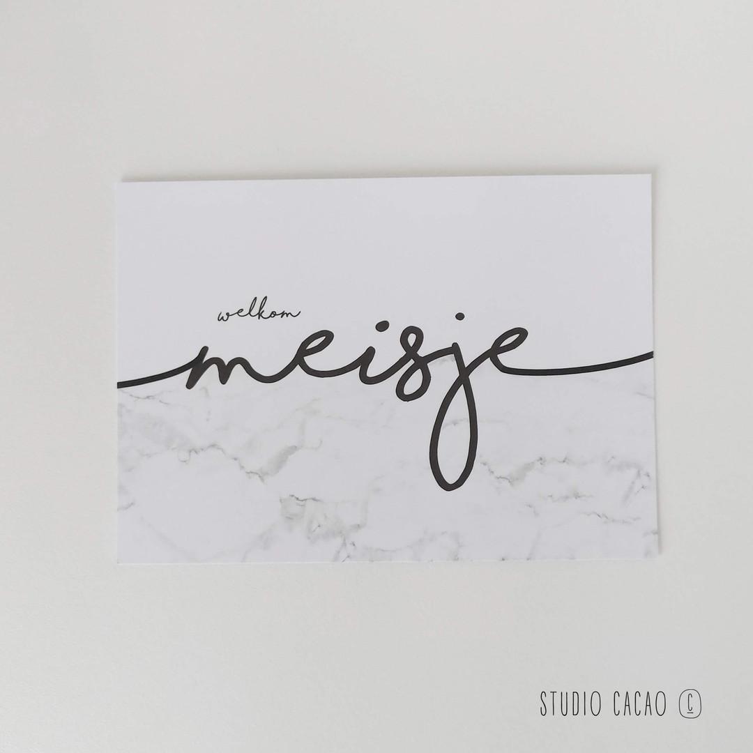 Marble Card - welkom meisje - Hechtel-Eksel Winkelt