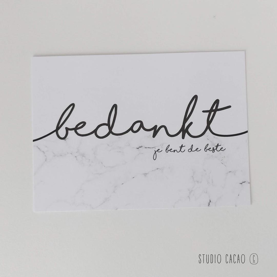 Marble Card - bedankt - Hechtel-Eksel Winkelt